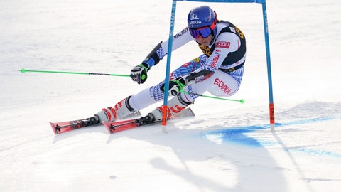 <p>               Slovakia's Petra Vlhova competes in an alpine ski, women's World Cup giant slalom, in Kranjska Gora, Slovenia, Saturday, Feb. 15, 2020. (AP Photo/Giovanni Auletta)             </p>