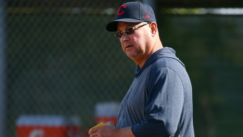 <p>               Cleveland Indians manager Terry Francona watches infield drills during spring training baseball workouts Friday, Feb. 21, 2020, in Goodyear, Ariz. (AP Photo/Ross D. Franklin)             </p>