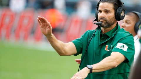 <p>               FILE - In this Saturday, Nov. 9, 2019 file photo, Miami head coach Manny Diaz calls out a play during the first half of an NCAA college football game against Louisville in Miami Gardens, Fla. Miami coach Manny Diaz told The Associated Press on Monday, Feb. 3, 2020 that he believes the Hurricanes are already better than they were when last season's 6-7 debacle ended. Diaz says the Hurricanes have improved their roster and their coaching staff, both by additions and subtractions. He also drew a parallel to the culture that the Miami Heat have stuck with in their bounceback season this year.  (AP Photo/Wilfredo Lee, File)             </p>