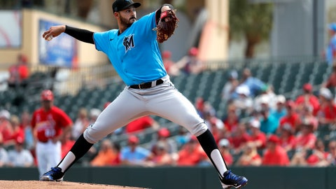 <p>               FILE - In this Feb. 26, 2020, file photo, Miami Marlins pitcher Pablo Lopez throws during the first inning of a spring training baseball game against the St. Louis Cardinals in Jupiter, Fla. The Marlins haven't played in the postseason since 2003, and likely won't get there this year. But more than three years after the death of ace Jose Fernandez in a boating accident, the Marlins believe the have the pieces to build a winning rotation. (AP Photo/Jeff Roberson, File)             </p>