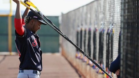 <p>               FILE - In this Feb. 14, 2020, file photo, Cleveland Indians pitcher Emmanuel Clase stretches during spring training baseball workouts for pitchers and catchers in Avondale, Ariz. The hard-throwing Clase, who was acquired this winter from Texas in the trade for two-time Cy Young winner Corey Kluber, experienced upper arm discomfort following a bullpen session last week. He continued to have issues this week and the Indians had him undergo tests Wednesday, Feb. 26, 2020. An MRI confirmed a moderate strain of the teres major muscle in his upper back. The team said he will be re-evaluated weekly, but the x-year-old is expected to miss 8-to-12 weeks of game activity.(AP Photo/Ross D. Franklin, File)             </p>