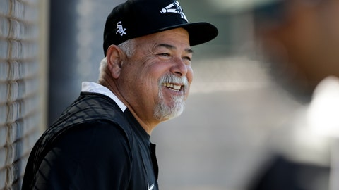 <p>               Chicago White Sox manager Rick Renteria smiles during spring training baseball Saturday, Feb. 15, 2020, in Phoenix. (AP Photo/Gregory Bull)             </p>