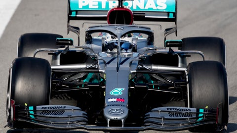 <p>               Mercedes-AMG Petronas' Valtteri Bottas steers his car during the Formula One pre-season testing session at the Barcelona Catalunya racetrack in Montmelo, outside Barcelona, Spain, Friday, Feb. 21, 2020. (AP Photo/Joan Monfort)             </p>