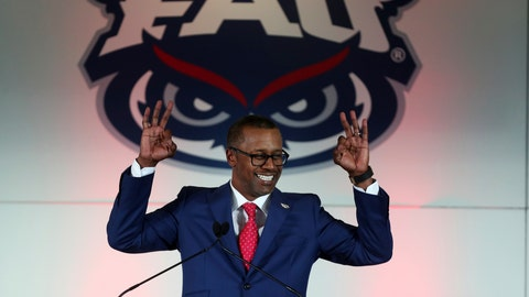 <p>               FILE- In this Dec. 12, 2019, file photo, former Florida State coach Willie Taggart is introduced as Florida Atlantic University's new football head coach during a press conference in Boca Raton, Fla. Colleges around the country finished off their football signing classes this week, proudly touting scores of African-American athletes as their next big stars. A review of all 130 FBS schools found shockingly low numbers, with blacks still largely shut out of head coaching positions and even more so the prime coordinator spots.    (Carline Jean/South Florida Sun-Sentinel via AP)             </p>