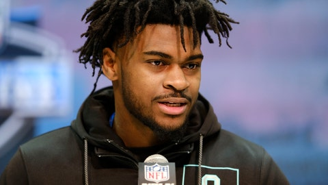 <p>               Alabama defensive back Trevon Diggs speaks during a press conference at the NFL football scouting combine in Indianapolis, Friday, Feb. 28, 2020. (AP Photo/AJ Mast)             </p>