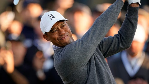 <p>               Tiger Woods tees off on the 10th hole during the second round of the Genesis Invitational golf tournament at Riviera Country Club, Friday, Feb. 14, 2020, in the Pacific Palisades area of Los Angeles. (AP Photo/Ryan Kang)             </p>