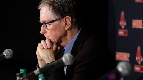 <p>               Boston Red Sox baseball team owner John Henry listens during a news conference at Fenway Park, Wednesday, Jan. 15, 2020, in Boston. The Boston Red Sox have parted ways with manager Alex Cora, with the move coming one day after baseball Commissioner Rob Manfred named him as a ringleader with Houston in the sport's sign-stealing scandal. (AP Photo/Elise Amendola)             </p>