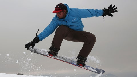 <p>               In this Friday, Jan. 24, 2020 photo, Nizaruddin Alizada, 20, a member of the Afghanistan Snowboarding Federation practices on the hillside known as Kohe Koregh, on the outskirts of Kabul, Afghanistan. While Afghanistan's capital may seem an unlikely destination for snowboarders, a group of young Afghans is looking to put the city on the winter sports map and change perceptions about their war-weary nation. (AP Photo/Rahmat Gul)             </p>