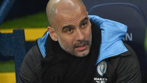 <p>               Manchester City's head coach Pep Guardiola ahead of the English Premier League soccer match between Manchester City and West Ham at Etihad stadium in Manchester, England, Wednesday, Feb. 19, 2020. (AP Photo/Rui Vieira)             </p>