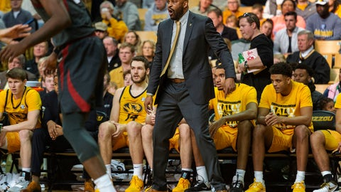 <p>               Missouri head coach Cuonzo Martin shouts instructions at his team during the first half of an NCAA college basketball game against Arkansas, Saturday, Feb. 8, 2020, in Columbia, Mo. Missouri won the game 83-79.(AP Photo/L.G. Patterson)             </p>