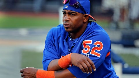 <p>               FILE - In this July 20, 2018, file photo, New York Mets' Yoenis Cespedes stretches before the team's baseball game against the New York Yankees in New York. It's been a bizarre offseason for the Mets — even by their standards. They dumped two different managers, cut Cespedes' salary, and ownership took a swing at selling a controlling share of the franchise before the proposed deal collapsed. (AP Photo/Julie Jacobson, File)             </p>