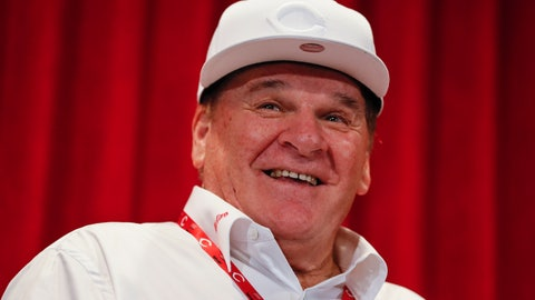 <p>               FILE - In this June 17, 2017, file photo, former Cincinnati Reds player Pete Rose attends a news conference during his statue dedication ceremonies before a baseball game between the Reds and the Los Angeles Dodgers in Cincinnati. Rose once again asked Major League Baseball to end his lifetime ban, saying the penalty is unfair compared with discipline for steroids use and electronic sign stealing. Rose's lawyers submitted the application Wednesday, Feb. 5, 2020, to baseball Commissioner Rob Manfred, who in December 2015 denied the previous request by the career hits leader.  (AP Photo/John Minchillo, File)             </p>