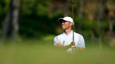 <p>               Tiger Woods watches his second shot on the fifth hole during the second round of the Genesis Invitational golf tournament at Riviera Country Club, Friday, Feb. 14, 2020, in the Pacific Palisades area of Los Angeles. (AP Photo/Ryan Kang)             </p>
