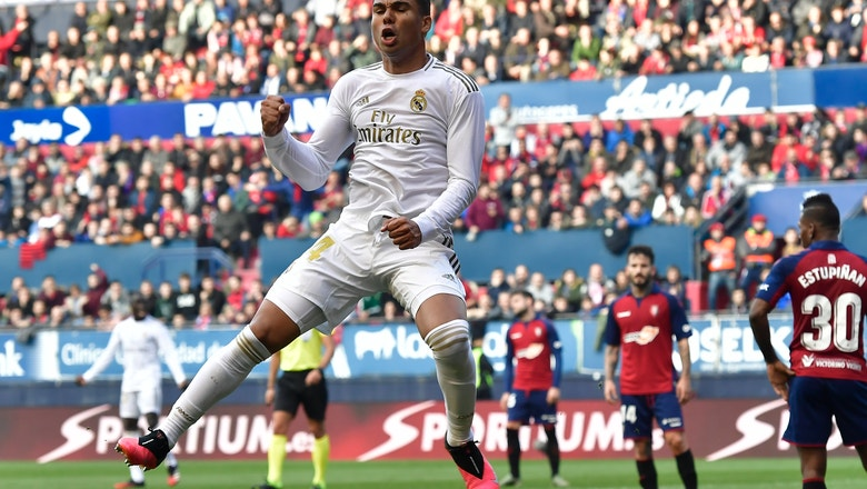 Madrid rebounds from Copa elimination with win over Osasuna