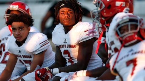 <p>               In this Dec. 7, 2019 photo, North Shore Mustangs running back Zachary Evans (3) and teammates watch from the bench induringthe fourth quarter during the second half of the high school football playoff game against the Atascocita Eagles at Sheldon ISD Panther Stadium in Houston, Texas. The talented running back from Houston quietly signed with Georgia in December, but was later released from his national letter of intent by the Bulldogs. (Tim Warner/Houston Chronicle via AP)             </p>