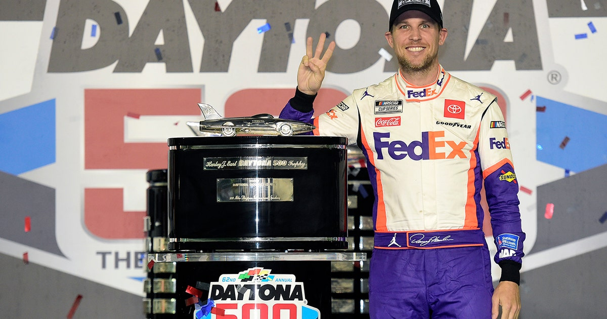 Denny Hamlin can finally celebrate his Daytona 500 win