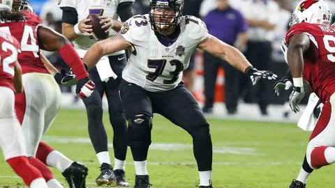 <p>               FILE - In this Oct. 26, 2015, file photo, Baltimore Ravens guard Marshal Yanda (73) blocks during an NFL football game against the Arizona Cardinals, in Glendale, Ariz. Yanda is retiring after 13 seasons in which he was named to the Pro Bowl eight times and helped Baltimore win the 2012 Super Bowl. (AP Photo/Rick Scuteri, File)             </p>
