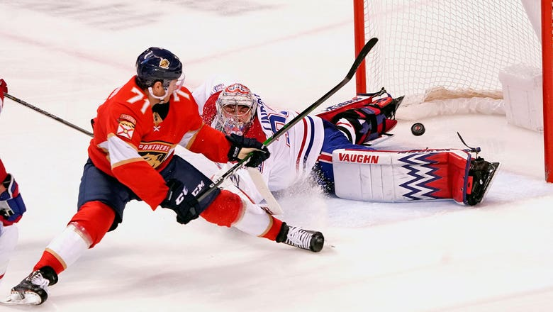 Panthers earn 4-1 win over Canadiens on Roberto Luongo's jersey retirement night