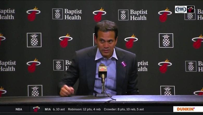 Heat coach Erik Spoelstra on NBA shutdown