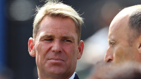<p>               FILE - In this July 11, 2019, file photo, Shane Warne, left, with former England cricket captain Nasser Hussein attends during the Cricket World Cup semi-final match between Australia and England at Edgbaston in Birmingham, England. Legendary Australia leg-spinner Shane Warne has turned his hand from making gin to making hand-sanitizer as shortages frustrate attempts to control the coronavirus outbreak. For most people, the new coronavirus causes only mild or moderate symptoms. For some it can cause more severe illness. (AP Photo/Rui Vieira, File)             </p>