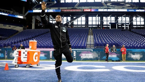<p>               Utah defensive back Javelin K. Guidry stretches at the NFL football scouting combine in Indianapolis, Sunday, March 1, 2020. (AP Photo/Charlie Neibergall)             </p>