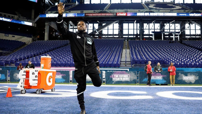 NFL combine's speed week ends with another fast finish