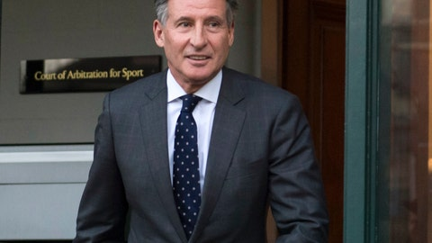 <p>               FILE - In this Monday, Feb. 18, 2019, file photo, Sebastian Coe leaves the Court of Arbitration for Sport in Lausanne, Switzerland. The date of the next world track championships is in limbo until the International Olympic Committee decides on a new schedule for the postponed Tokyo Games. Coe, the Olympic great who is now president of World Athletics, said Friday, March 27, 2020, there are plenty of options for rescheduling next year's world championships in Eugene, Oregon, but at the moment they all depend on the IOC. (Laurent Gillieron/Keystone via AP, File)             </p>