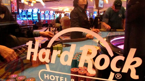 <p>               FILE - In this June 20, 2019 file photo, a roulette dealer waits for bets to be placed at the Hard Rock casino in Atlantic City, N.J. Hard Rock is canceling live entertainment at all its U.S. properties for 30 days in response to the coronavirus outbreak, one of many steps casinos around the country are taking in response to the outbreak. (AP Photo/Wayne Parry)             </p>