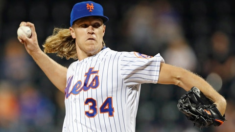 <p>               FILE - In this Sept. 24, 2019, file photo, New York Mets starting pitcher Noah Syndergaard winds up during the first inning of the team's baseball game against the Miami Marlins in New York. Right-hander Syndergaard has agreed to a $9.7 million, one-year deal with the Mets to avoid salary arbitration. (AP Photo/Kathy Willens, File)             </p>