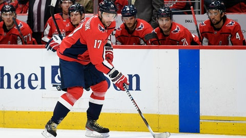 <p>               Washington Capitals left wing Ilya Kovalchuk, of Russia, skates with the puck during the first period of the team's NHL hockey game against the Winnipeg Jets, Tuesday, Feb. 25, 2020, in Washington. (AP Photo/Nick Wass)             </p>