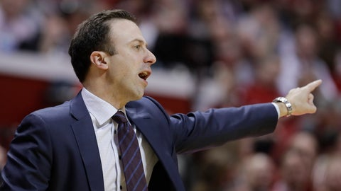 <p>               Minnesota head coach Richard Pitino argues a call during the first half of an NCAA college basketball game against Indiana, Wednesday, March 4, 2020, in Bloomington, Ind. (AP Photo/Darron Cummings)             </p>