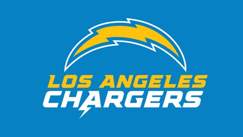<p>               This image provided by the Los Angeles Chargers shows the Los Angeles Chargers updated logo. The Los Angeles Chargers have updated their bolt logo and unveiled new logotype ahead of their move into their new home at Hollywood Park, Tuesday, March 24, 2020. (Los Angeles Chargers via AP)             </p>