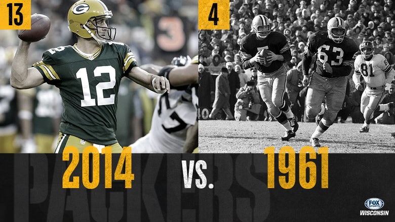 Packers all-time tournament: 1961 (4) vs. 2014 (13)