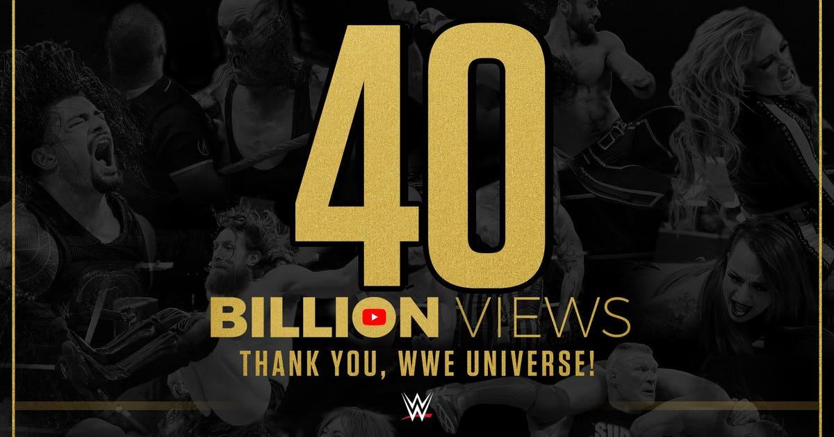 WWE's YouTube channel surpasses 40 billion views