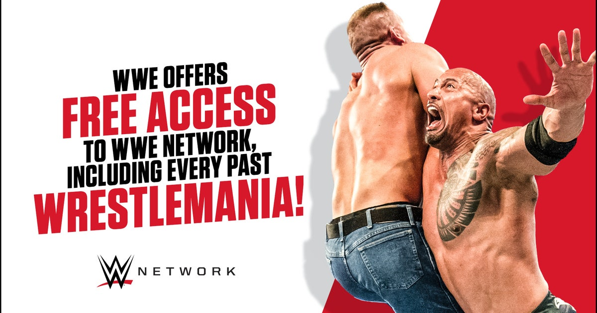 WWE offers free access to WWE Network, including every past WrestleMania
