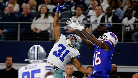 <p>               FILE - In this Nov. 28, 2019, file photo, Dallas Cowboys cornerback Byron Jones (31) breaks up a pass intended for Buffalo Bills wide receiver Robert Foster (16) in the first half of an NFL football game in Arlington, Texas. After months of hoarding resources for rebuilding, the Miami Dolphins finally started spending Monday, March 16, 2020, when they sealed deals with four likely starters in the early hours of free agent negotiations. Miami made Jones the NFL's highest-paid cornerback, surpassing his new teammate, Xavien Howard. (AP Photo/Michael Ainsworth, File)             </p>