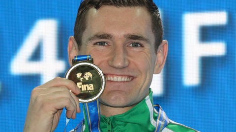 <p>               FILE - In this Sunday, Dec. 16, 2018 file photo, gold medalist South Africa's Cameron Van Der Burgh pose during the ceremonies for the men's 50m breaststroke at the 14th FINA World Swimming Championships in Hangzhou in eastern China's Zhejiang Province. Former Olympic swimming champion Cameron van der Burgh of South Africa says he has contracted the coronavirus. (AP Photo/Ng Han Guan, File)             </p>