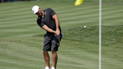 <p>               Brooks Koepka hits to the 16th green during a practice round for The Players Championship golf tournament Wednesday, March 11, 2020, in Ponte Vedra Beach, Fla. (AP Photo/Chris O'Meara)             </p>