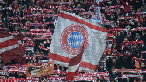 <p>               FILE - In this Wednesday, March 11, 2015 file photo, Bayern fans wave flags and scarfs before their Champions League soccer match against Shakhtar Donetsk in Munich, southern Germany. Even though the protests have stopped amid the coronavirus outbreak, many Bayern Munich fans are still pushing for their club to take its Qatari sponsor to task for human rights abuses in the country. Bayern is sponsored by state-owned carrier Qatar Airways and has been holding mid-season training camps in the Persian Gulf country since 2011.(AP Photo/Kerstin Joensson, file)             </p>