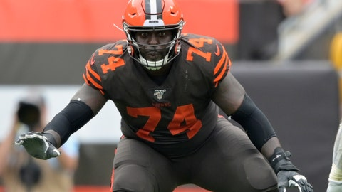 <p>               FILE - In this Sept. 8, 2019, file photo, Cleveland Browns offensive tackle Chris Hubbard (74) blocks in the second half of an NFL football game against the Tennessee Titans in Cleveland. Hubbard agreed to rework his contract after the team signed free agent Jack Conklin, a person familiar with the deal told The Associated Press on Thursday, March 26, 2020. (AP Photo/David Richard, File)             </p>