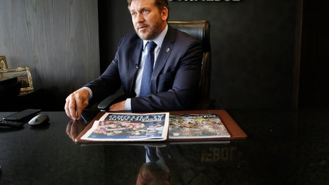 <p>               Conmebol President Alejandro Dominguez gives an interview at the soccer organization's headquarters in Luque, Paraguay, Wednesday, Feb. 19, 2020. Domínguez expressed reservations with the new format set up for the FIFA club world championship recently announced by FIFA. (AP Photo/Jorge Saenz)             </p>