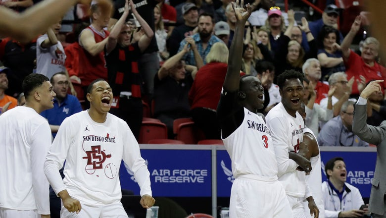 No. 5 San Diego State gets past Air Force in MWC tournament