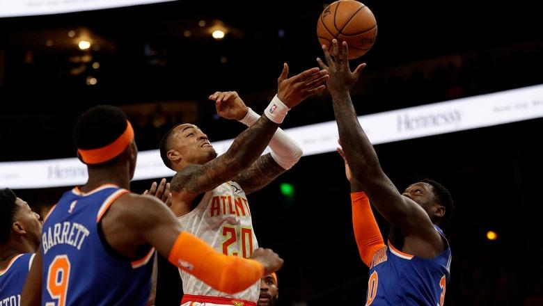 Randle scores 33, Knicks outlast Hawks 136-131 in overtime
