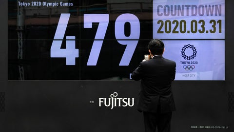 <p>               A man takes pictures of a countdown display for the Tokyo 2020 Olympics and Paralympics Tuesday, March 31, 2020, in Tokyo.  The countdown clock is ticking again for the Tokyo Olympics. They will be July 23 to Aug. 8, 2021. The clock read 479 days to go. This seems light years away, but also small and insignificant compared to the worldwide fallout from the coronavirus. (AP Photo/Jae C. Hong)             </p>