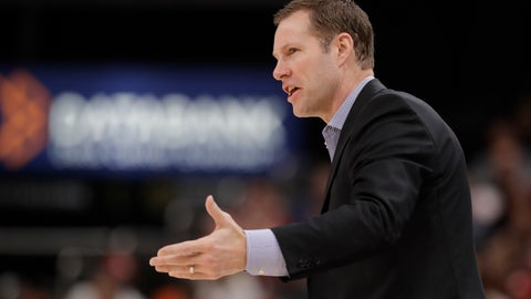 <p>               Nebraska head coach Fred Hoiberg calls a play during the first half of an NCAA college basketball game against Indiana at the Big Ten Conference tournament, Wednesday, March 11, 2020, in Indianapolis. (AP Photo/Darron Cummings)             </p>