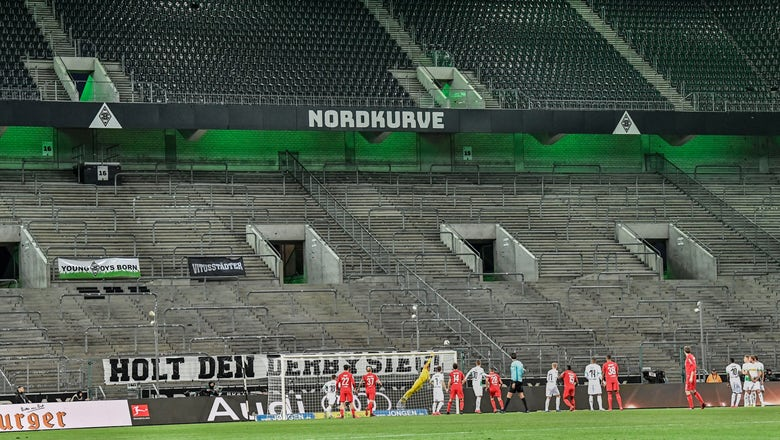 Gladbach beats Cologne as German soccer closes doors to fans