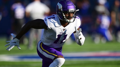 <p>               FILE - In this Aug. 29, 2019, file photo, Minnesota Vikings wide receiver Laquon Treadwell warms up before an NFL preseason football game against the Buffalo Bills in Orchard Park, N.Y. A person familiar with the deals says the Atlanta Falcons have reached agreements with wide receiver Laquon Treadwell, a former first-round pick of the Minnesota Vikings, and guard Justin McCray. The person told the Associated Press about the agreements on Monday, March 23, 2020, on condition of anonymity because the deals will not be official until Treadwell and McCray pass physicals.  (AP Photo/David Dermer, File)             </p>