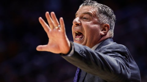 <p>               Auburn head coach Bruce Pearl yells to his players during an NCAA college basketball game against Tennessee, Saturday, March 7, 2020, in Knoxville, Tenn. (AP Photo/Wade Payne)             </p>