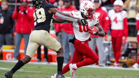 <p>               FILE - In this Nov. 2, 2019, file photo, Nebraska wide receiver JD Spielman (10) holds off Purdue cornerback Simeon Smiley (29) during the second half of an NCAA college football game in West Lafayette, Ind. Spielman, a rising senior from Eden Prairie, Minnesota, who led the Cornhuskers with 49 catches for 898 yards and five touchdowns last season, has returned home to deal with a health matter and probably will miss spring practice. Coach Scott Frost didn't address the nature of Spielman's health issue. (AP Photo/Michael Conroy, File)             </p>