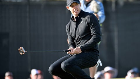 <p>               Rory McIlroy, of Northern Ireland, reacts after missing a putt on the 15th green during the third round of the Arnold Palmer Invitational golf tournament, Saturday, March 7, 2020, in Orlando, Fla. (AP Photo/Phelan M. Ebenhack)             </p>